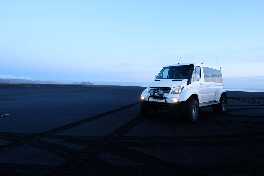 Chasing Northern Lights Iceland, Corporate Expedition - Big van for Iceland