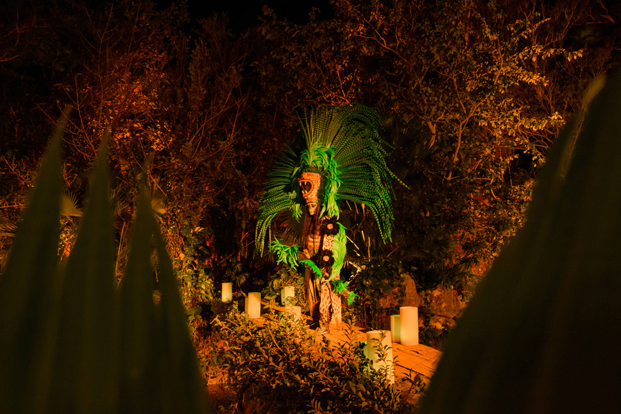 Corporate Events and Meetings - Mayan priest