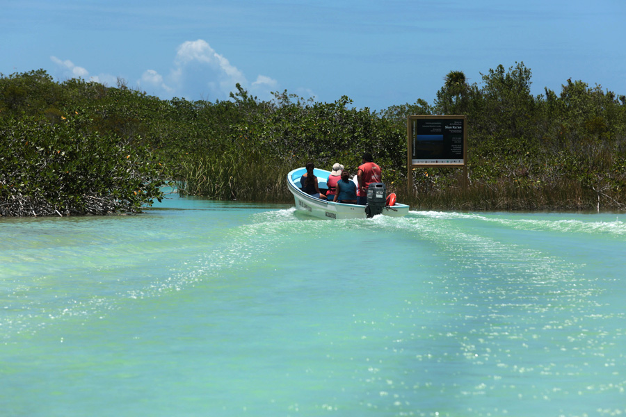 Culture and Wildlife in the Mayan Riviera - Boat in the riviera