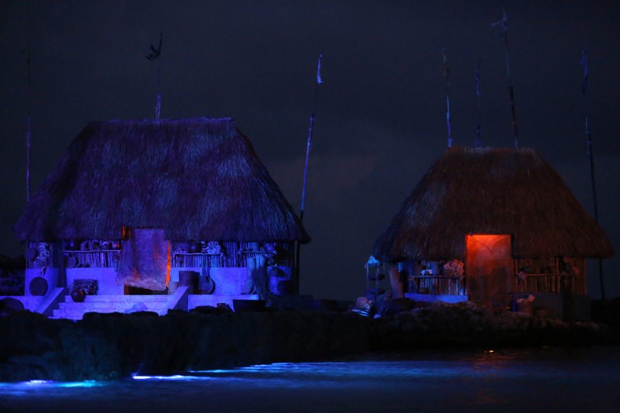 Culture and Wildlife in the Mayan Riviera - Hotel houses at night