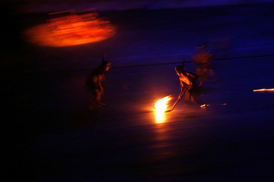 Culture and Wildlife in the Mayan Riviera - warriors and fire at night
