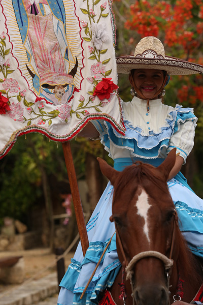 Culture and Wildlife in the Mayan Riviera - tradition woman on horse