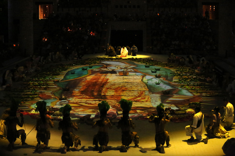 Culture and Wildlife in the Mayan Riviera dancing spectacle with lights