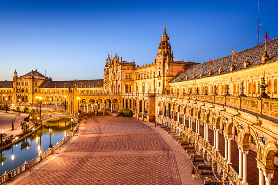 Spain Square in Seville, Spain