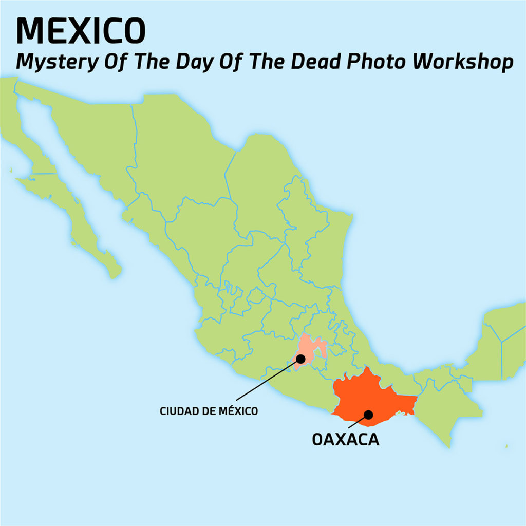 Map of MYSTERY OF THE DAY OF THE DEAD PHOTO WORKSHOP