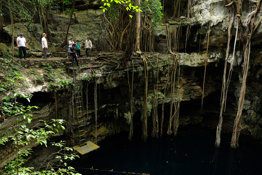 Nat Geo Expeditions Descubre Secretos Mayas - Acccess to the cenote