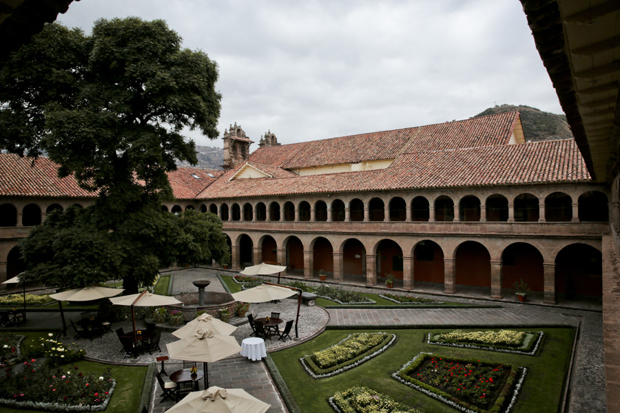 Splendors of the Inca Corporate Expedition - Luxury hotel, outside, terrace