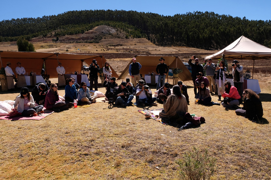 Splendors of the Inca Corporate Expedition - Listening to tradicional music