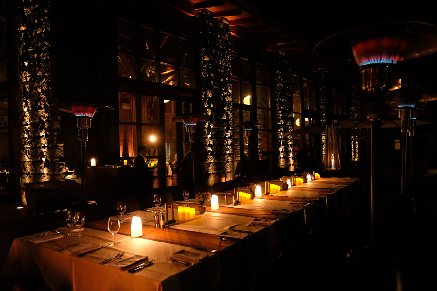 Splendors of the Inca Corporate Expedition - Restaurant at night