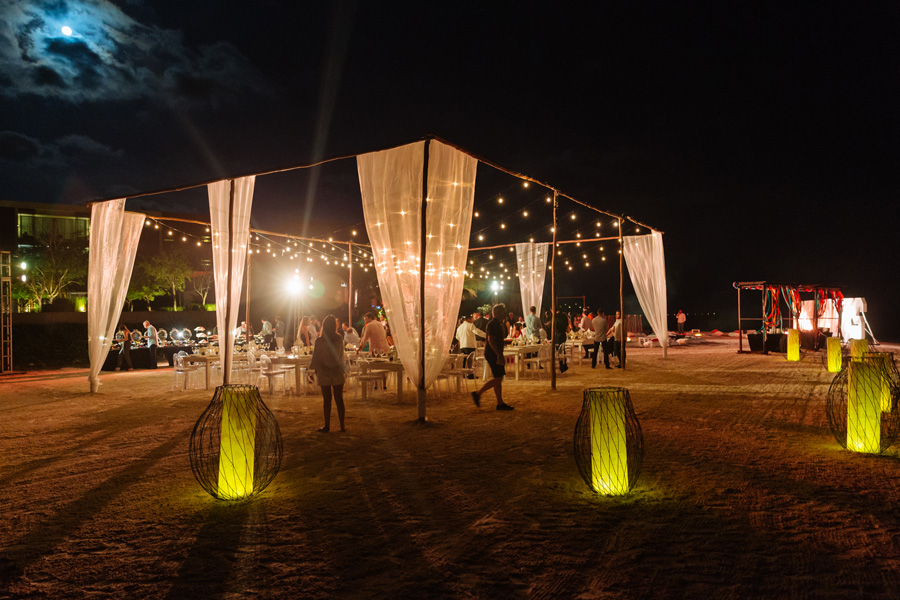 Corporate events - Event outside at night