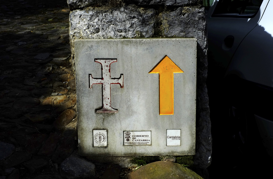 where we have gone Way of St James signal in Spain