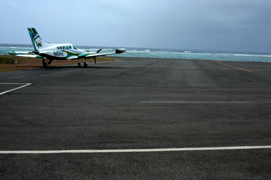 where we have gone plane close to the sea in airport